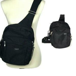 Baggallini Black Sling Back Crossbody Backpack